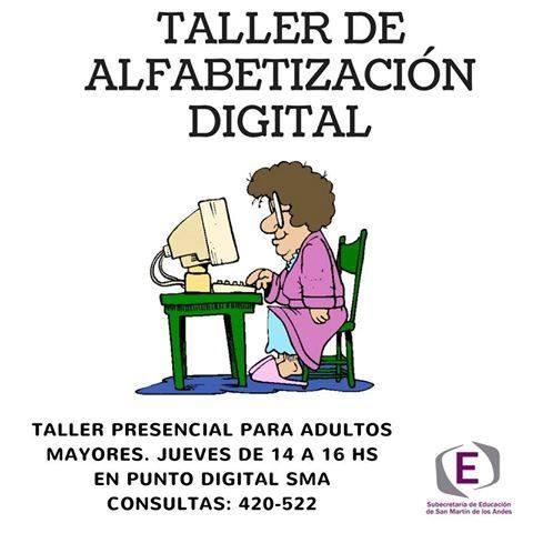 "Taller gratuito de ""Alfabetización Digital"" para adultos mayores ..."